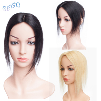 SEGO 10Inch 6*9cm Straight Pure Color Hair Topper Toupee For Women Double Knots Hair Pieces Non remy Hair Indian Hair110%density