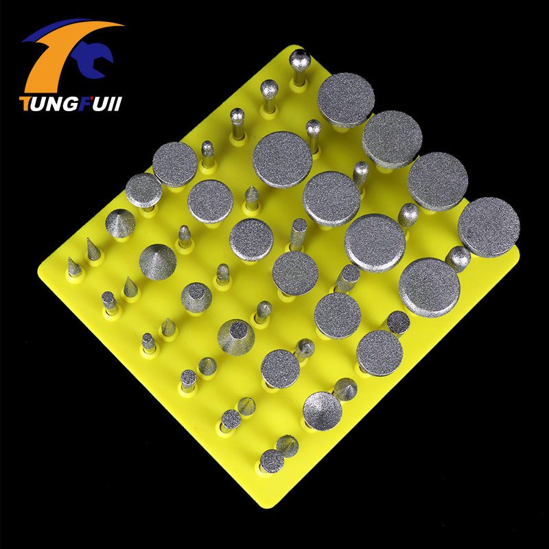 Tungfull Dremel Accessories Electric Grinder Grinding Head Emery Grinding Head Set 50 Pieces Jade Polishing Engraving Peeling