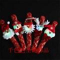 12 шт./лот Light-Up Игрушки Новые прибытия Рождество световой золото погладить Круг Браслет ручной кольцо флэш пряжки Рождество подарок