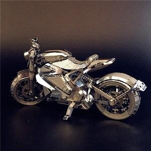 Image 3 - MMZ דגם NANYUAN 3D מתכת פאזל נקמה אופנוע אוסף פאזל 1:16 l DIY 3D לייזר לחתוך דגם פאזל צעצועי עבור למבוגרים