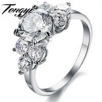 Hot Selling Women S Jewelry Stainless Steel Ring Luxury Design Big Crystal Inlaid Good Gift Size