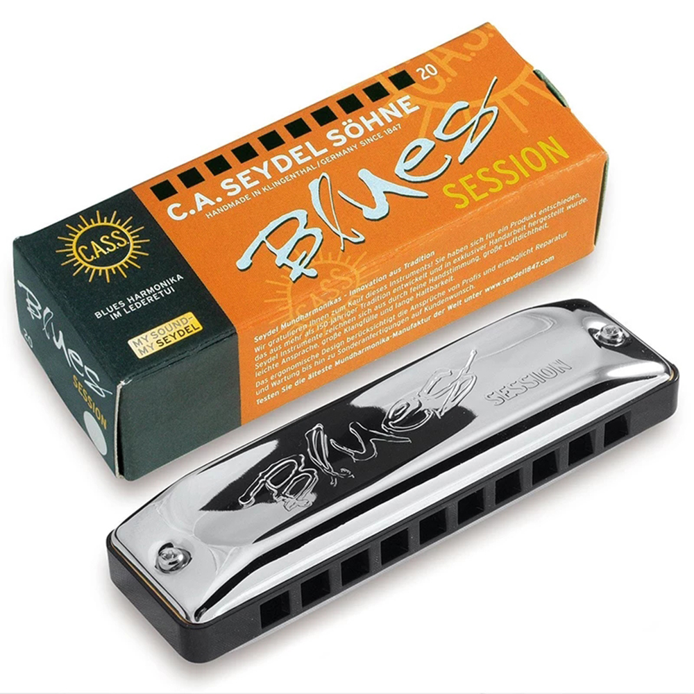 Seydel Blues Session Standard Diatonic Harmonica 10 Holes 20 Notes Blues Harp Key Of C ABS Comb Brass Reeds Musical Instruments