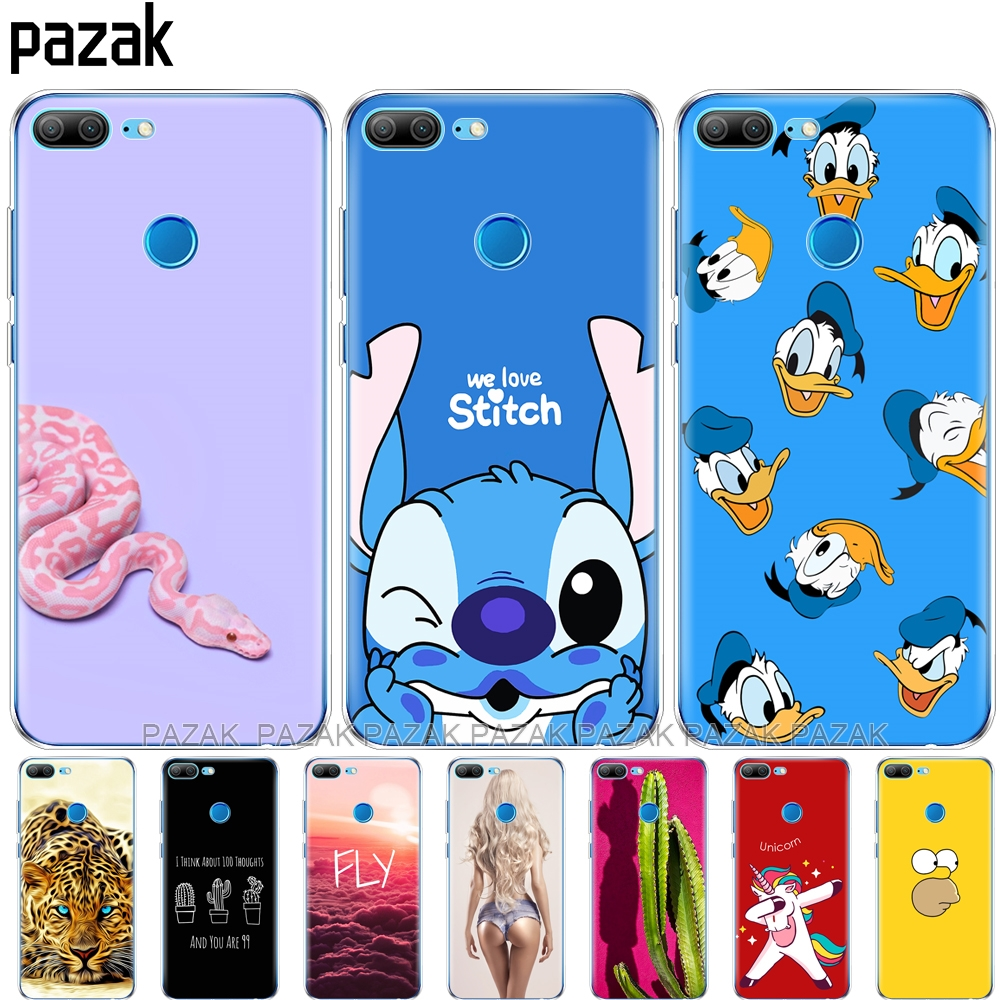 Silicone Phone Case For Huawei Honor 9 Honor 9 Lite Cases Soft TPU Phone Back Cover Transparent Full 360 Protective Pop