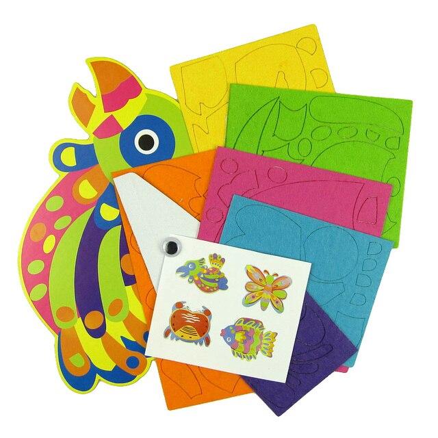 4 Patterns Children Cartoon Animal Sticker Paintings Kids 3d