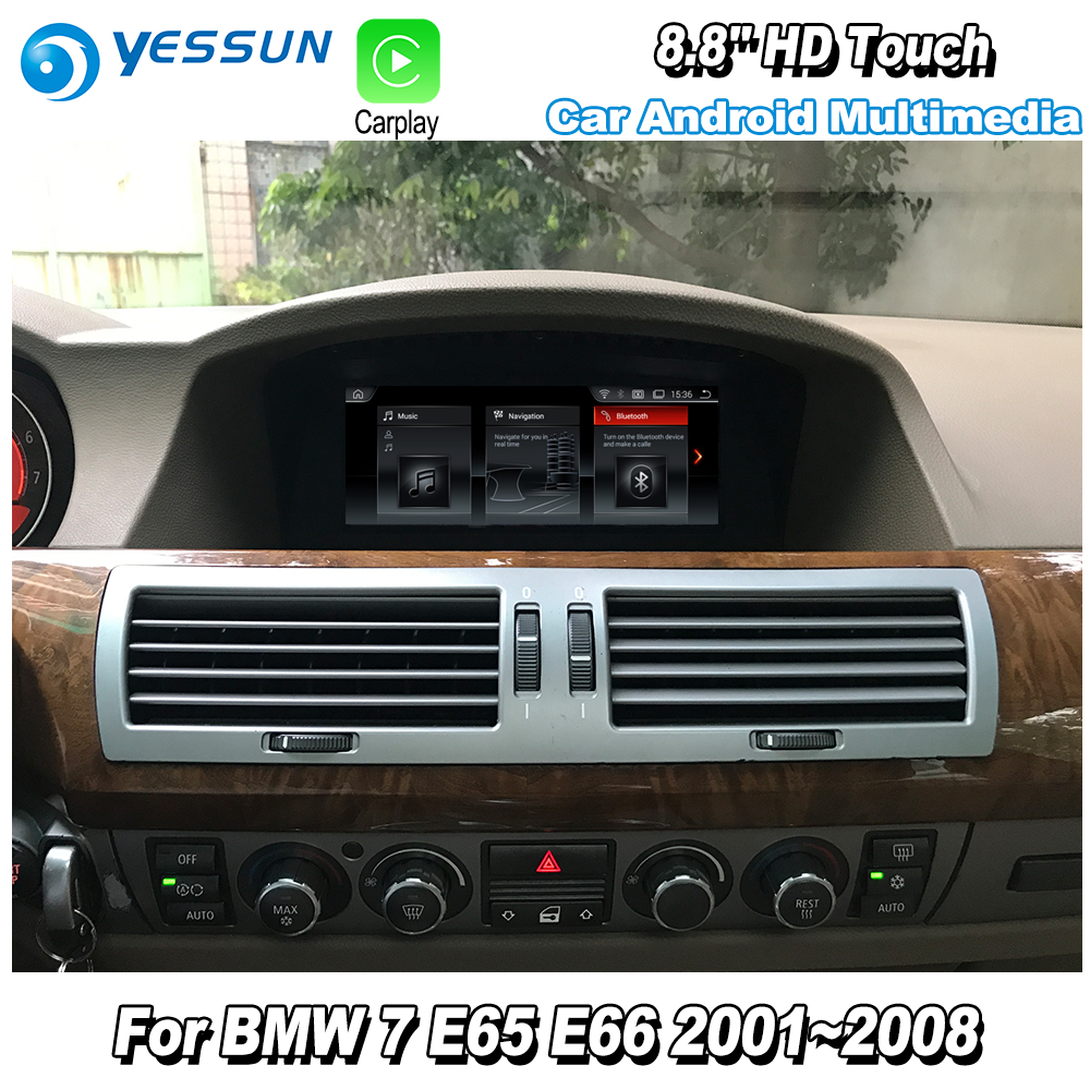 YESSUN For BMW 7 E65 E66 2001~2008 Car Android Carplay original style GPS Navi map Navigation Player Media Hi Fi Wifi No DVD