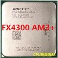 Бесплатная доставка для AMD FX-4300 quad-core CPU AM3 + Бульдозер 3.8 Г 95 Вт настольный компьютер CPU