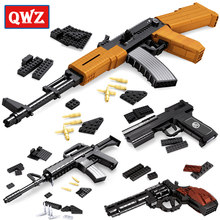 SWAT AK47 Sniper Rifle Pistol Desert Eagle Sets Legoes Building Blocks Children Boys Assemble Toys Guns Packs Weapons(China)