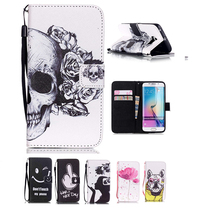 For Samung Galaxy S6 Case Nice Printed wallet stand leather flip case cover for samsung galaxy s6 edge plus mobile phone bag