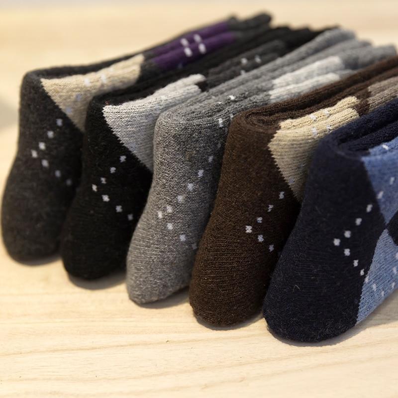 32da6ad14ced Hommes hiver épais cachemire chaussettes Épaisses chaussettes de laine  chaud Diamant serviette et chaussettes Fléchir terry socks.5 paires