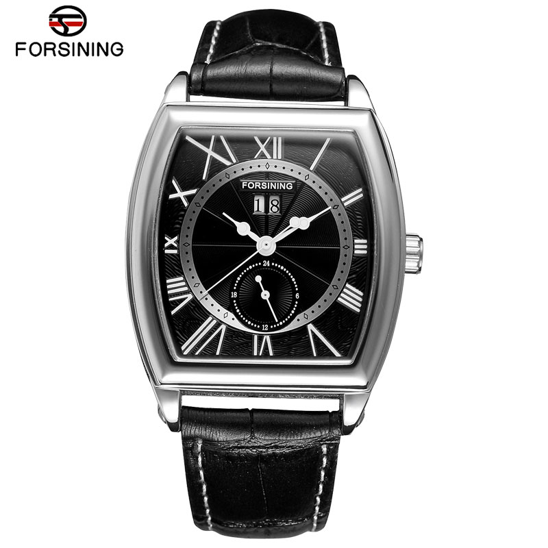 FORSINING Men Watches Luxury Auto Self-wind Mechanical Wristwatch Complete Calendar High Quality Watches Relogio Masculino 2015 forsining relogio pmw342