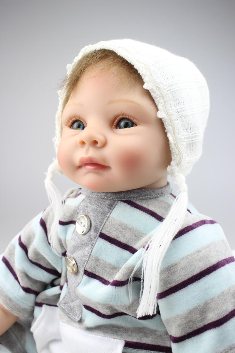 22 inch Silicone Reborn Babies Dolls baby reborn Realistic Hobbies Handmade Baby Alive Doll For Girls Toys boneca reborn