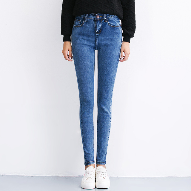 Sexy skinny mid waisted jeans fashion spring summer slim boyfriend jeans for women female denim overalls pencil pants stretch