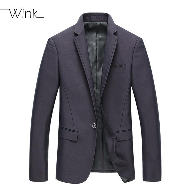 Nuevo Mens de La Llegada chaqueta de Lujo Purple Formal Outwear Solid Escudo Solo Botón Chaqueta Informal Masculina ropa de Vestir Masculino E166