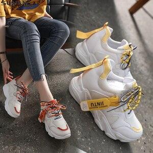 Image 1 - SWYIVY Mesh Ladies Sneakers Fashion Platform Sneakers Women 2020 Summer Shoes Woman Casual Shoes Women Casual Sneaker Breathable