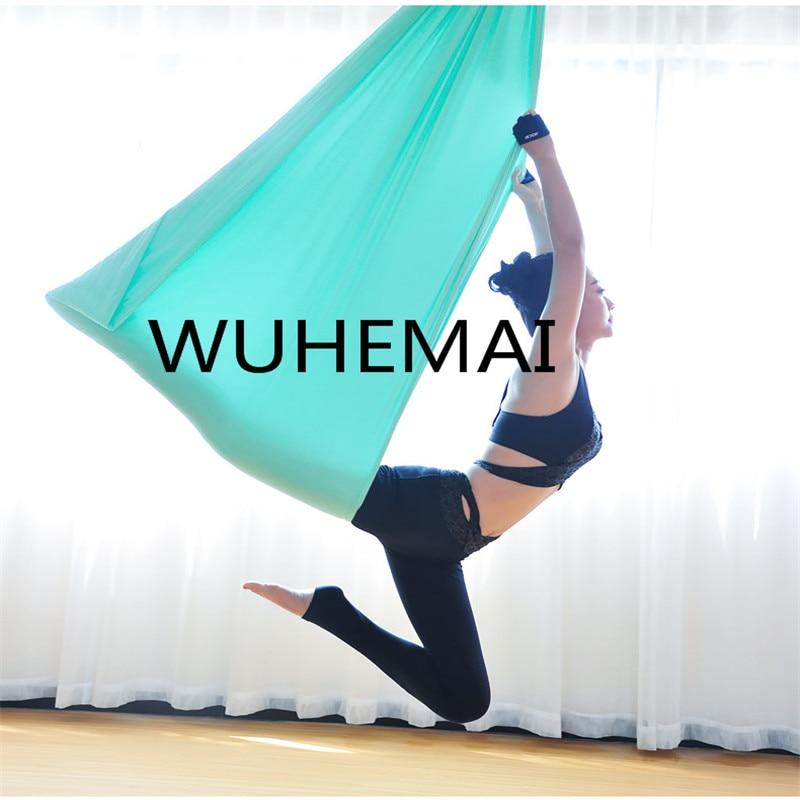 Wuhemai yoga amaca altalena tessuto Aerea Dispositivo di Trazione di Volo Anti-gravità Il professionista yoga cintura di elastico yoga sala