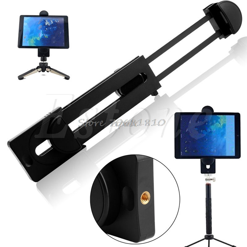 1/4 Thread Adapter Universal Tripod Mount Holder Bracket For 3~13 Tablet For iPad Z17 Drop ship universal cell phone holder mount bracket adapter clip for camera tripod telescope adapter model c