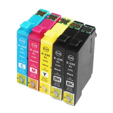 5 Pack Compatible For T 2201 T220XL High Yield Ink For Expression XP-320 XP-420 XP-424 WorkForce 2630 2650 2660 2760 Printer 220xl t220xl xp 320 xp 424 xp 420 wf 2630 continuous ink supply system for ciss ink tank