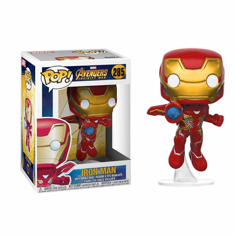 Funko pop Marvel Avengers3: Бесконечная война Капитан Америка Железный человек танос Тор ПВХ Фигурки Модель игрушки для детей подарок