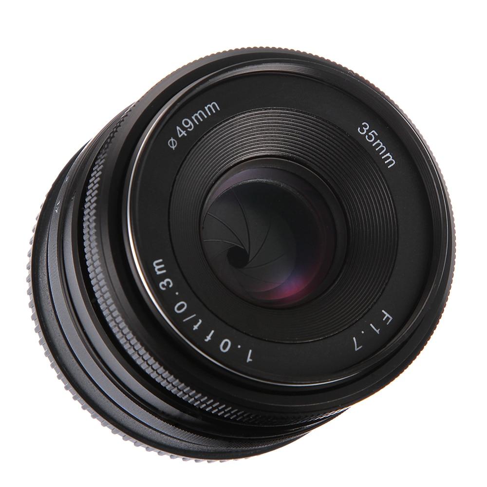 35mm f/1.7 MF Premier Fixe Objectif à Grande Ouverture APS-C pour Nikon 1 J4 J5 V1 V2 S1 s2 Caméra