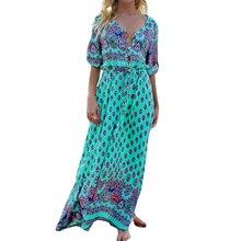 Чешские maxi dress женщины мода кнопки на передней лук пояс boho длинные dress свободный свободный лето dress