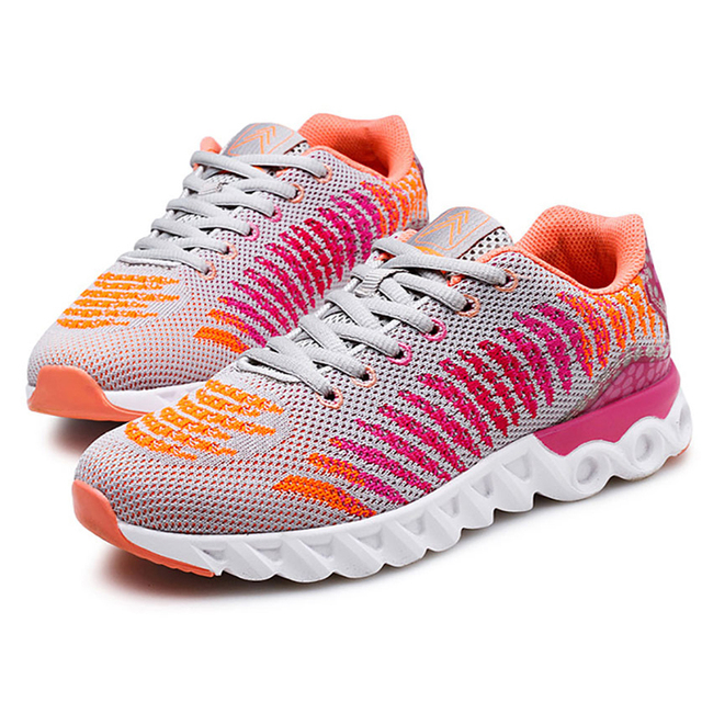 meilleur service 27526 b0383 US $55.99 |Superstar Shoes Breathable Air Mesh Women Shoe Zapatillas Mujer  Human Rosh Casual Shoe Flyline Soulier Femme Chaussures Femme 95-in Women's  ...