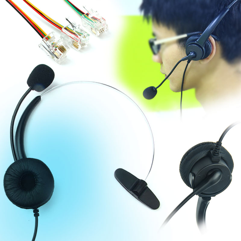 BBGear Universal Business Single Ear Headset w/ Microphone Headphones for Telephone Line for Customer Service/Office/Conference hands free headphones usb plug monaural headset call center computer customer service headset for pc telephone laptop skype chat