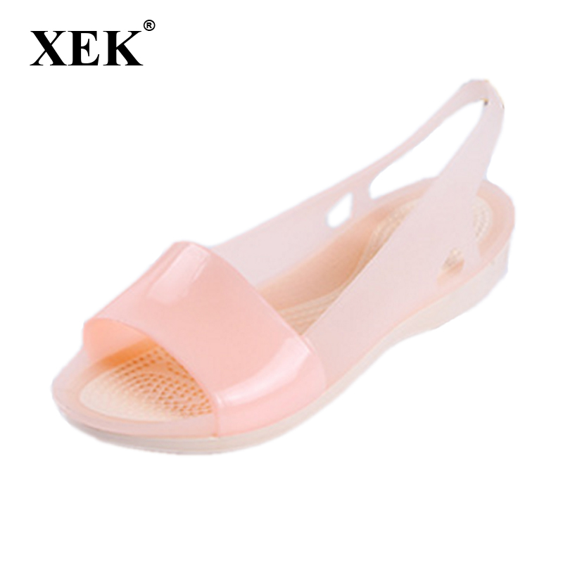 Women Sandals Colorful Women Shoes Peep Toe Stappy Beach Rainbow Croc Jelly Shoes Woman Summer shoes ST236 marlong women sandals summer new candy color women shoes peep toe stappy beach valentine rainbow jelly shoes woman