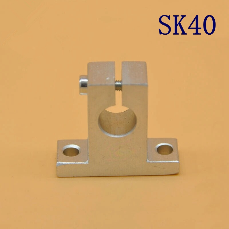 10pcs SK40  linear rail Shaft Support  bearing for 40mm CNC Router SH40A