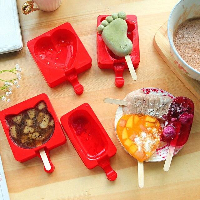 Лето 1 шт. силиконовые формы для фруктового мороженного машинка для мороженого на палочке пресс-формы для кухни DIY 8 форм