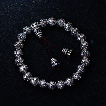 100% true S990 Solid state  pure silver  six Tibetan characters in Tibetan style