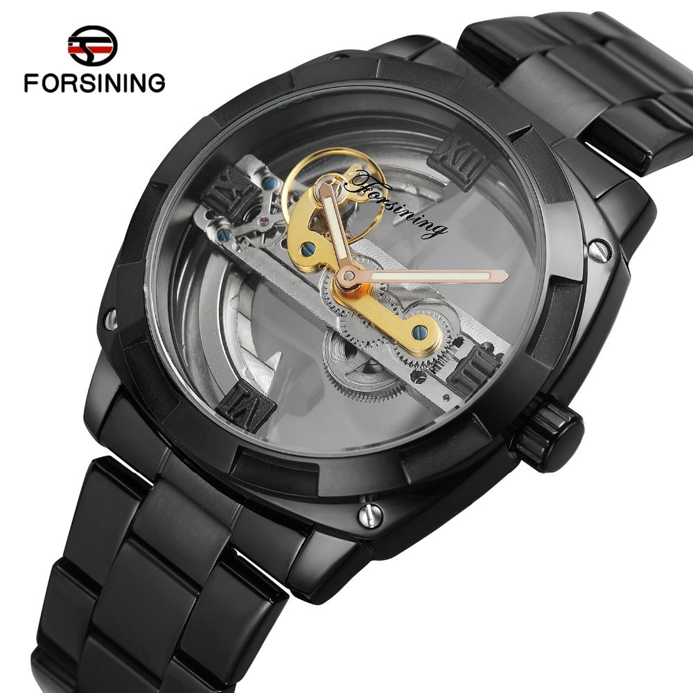 FORSINING Men s Famous Brand Business Dress Automatic Analogue Factory Mechanical Watch with Stainless Steel Bracelet