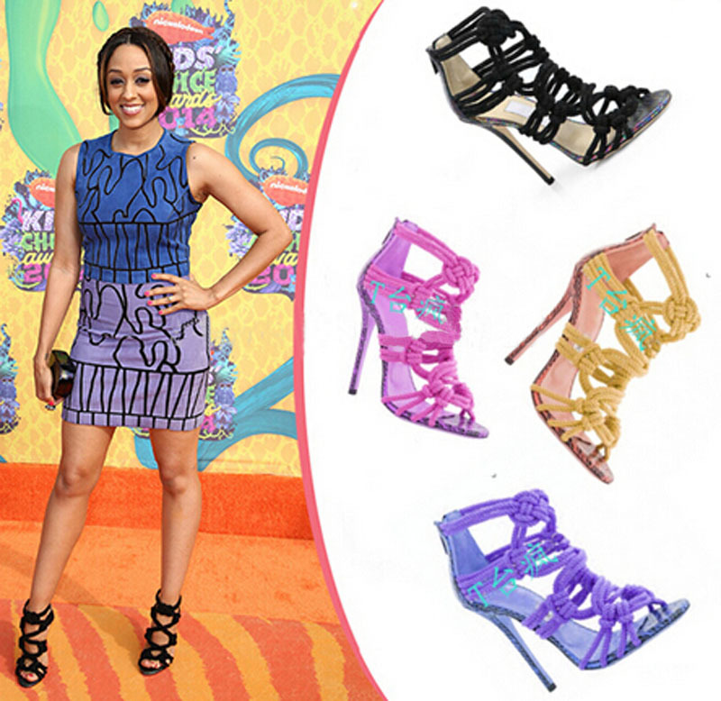 elegant high quality cut-outs open toe gladiator sandal shoes woman sexy  cross high heel gladiator sandals 010db612745b