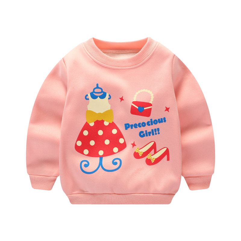 Baby Girls T Shirts Autumn Winter 2017 New Casual T-shirt Baby Girl Long Sleeve Clothes Children Clothing Warm Kids Girls Tops