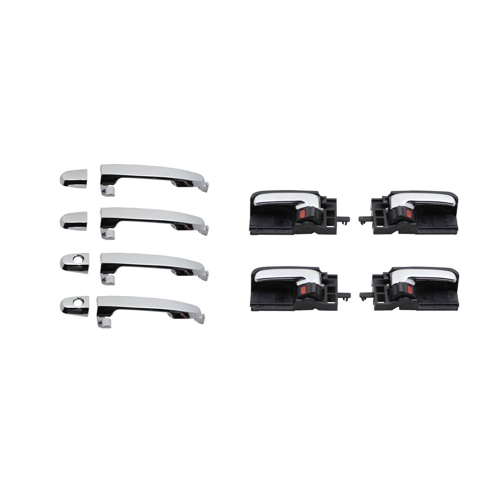 8pcs chrome exterior and black chrome Interior door handle for TOYOTA Corolla 2003 2004 2005 2006 2007 2008 image