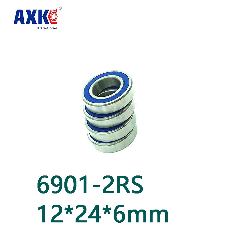 Axk Free Shipping 1pcs 6901-2rs Hybrid Ceramic Si3n4 Ball 61901 Ceramic Bearing 12*24*6mm 6901 2rs free shipping 6901 61901 zro2 full ceramic bearing ball bearing 12 24 6mm