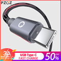 PZOZ USB Type C Fast Charging usb c cable Type-c data Cord USB Charger cable For Samsung S9 S8 plus Note 9 8 Xiaomi mi 8 huawei