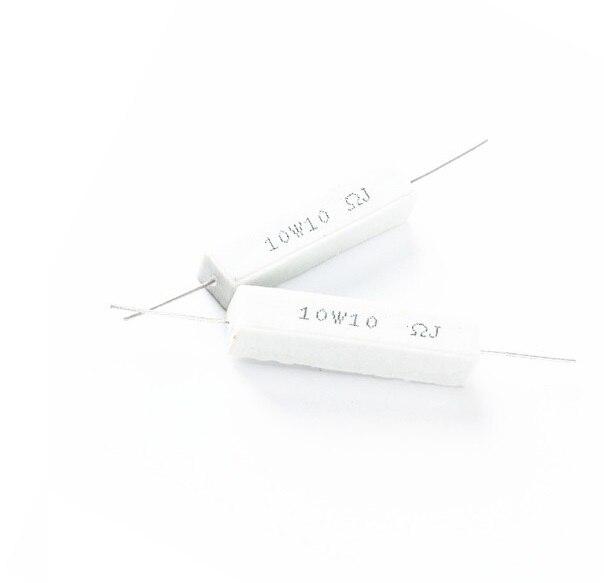5 pcs 10W 10 ohm 10R Resistance Ceramic Cement Resistor 5% DIY Kit  цены