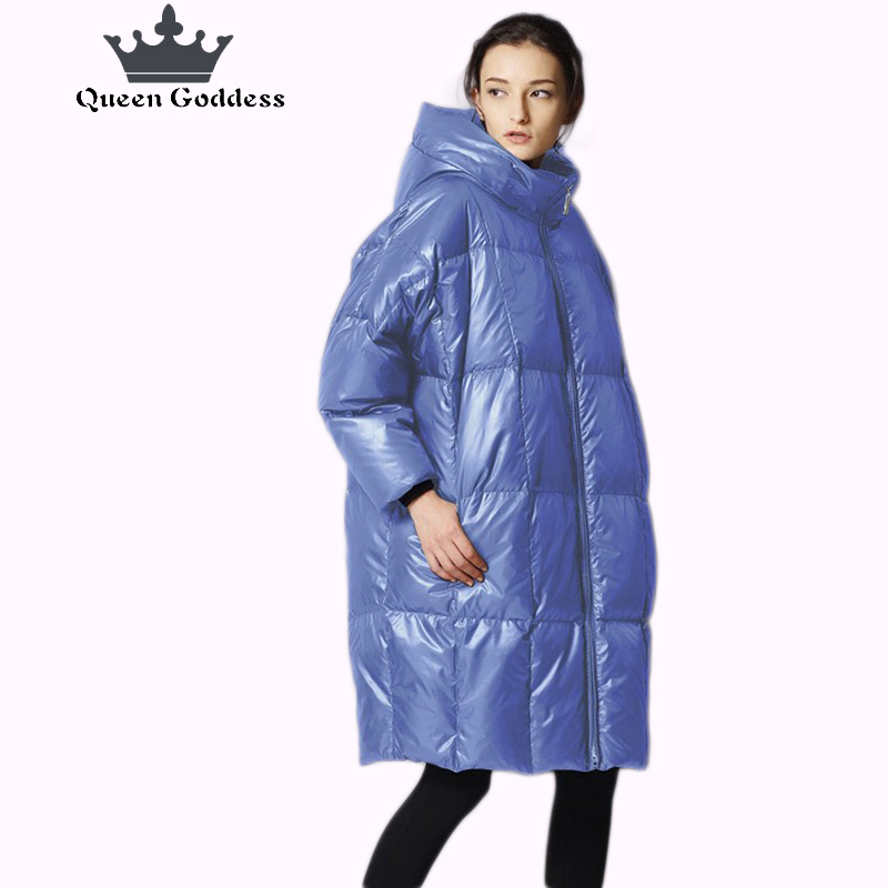 2017 European and American new winter fashions 90 eiderdown Baggy size of womens down jackets