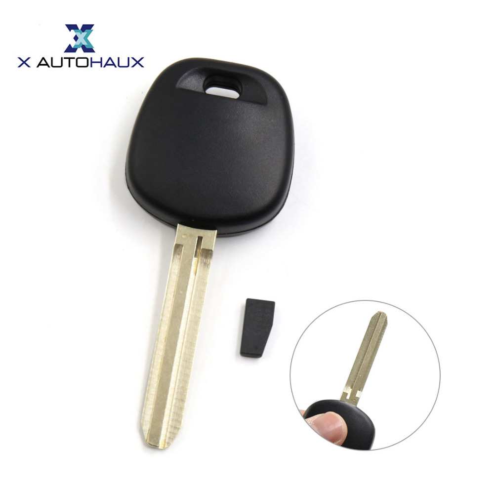 X AUTOHAUX Replacement Car Uncut Transponder Ignition Key w 67 Chipped Toy44d-pt For Toyota Highlander For Land Cruiser For RAV4