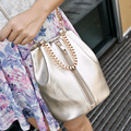 New Korean fashion ladies bucket bag chain retro bag Women bright color shoulder bag messenger bag