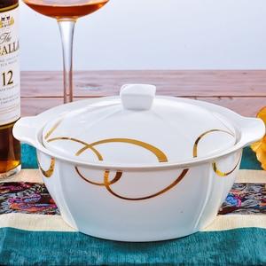 Image 3 - Набор посуды из 46 предметов, керамическая посуда Цзиндэчжэнь, посуда из Китая, тарелки, миски