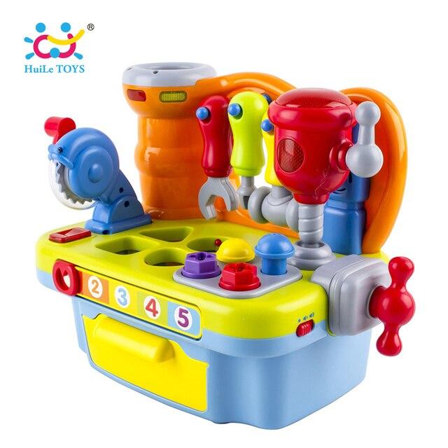 Musical Lernen Pretend Play Werkzeug Werkbank Spielzeug Mit Licht ...