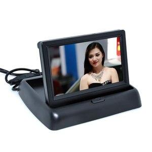 Image 4 - Cámara de asistencia de estacionamiento para coche, 4LED, Nocturna, CCD, Monitor plegable de vídeo, 4,3 pulgadas, LCD a Color