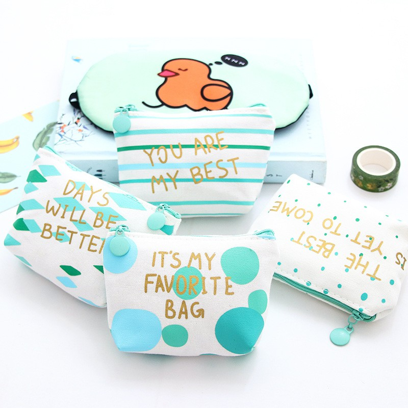 Rose Diary New fresh Green series cute canvas zipper bags zero wallet child girl boy purse, lady women coin wallets Pouch Case thinkthendo 3 color retro women lady purse zipper small wallet coin key holder case pouch bag new design