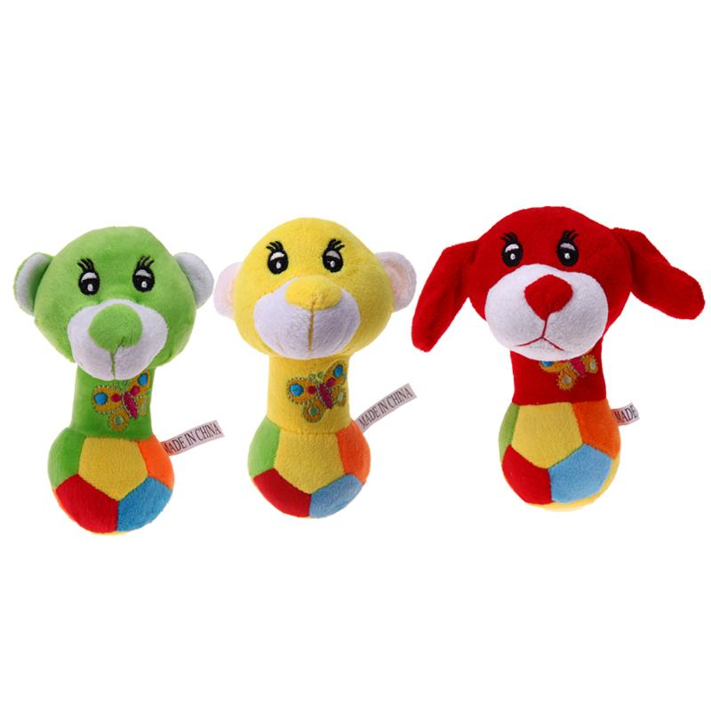 Baby Plush Toys Cute Pet Puppy Dog Soft Stuffed Toys Funny Chew Sound Squeaky Dog Bear Toy Gift for Children