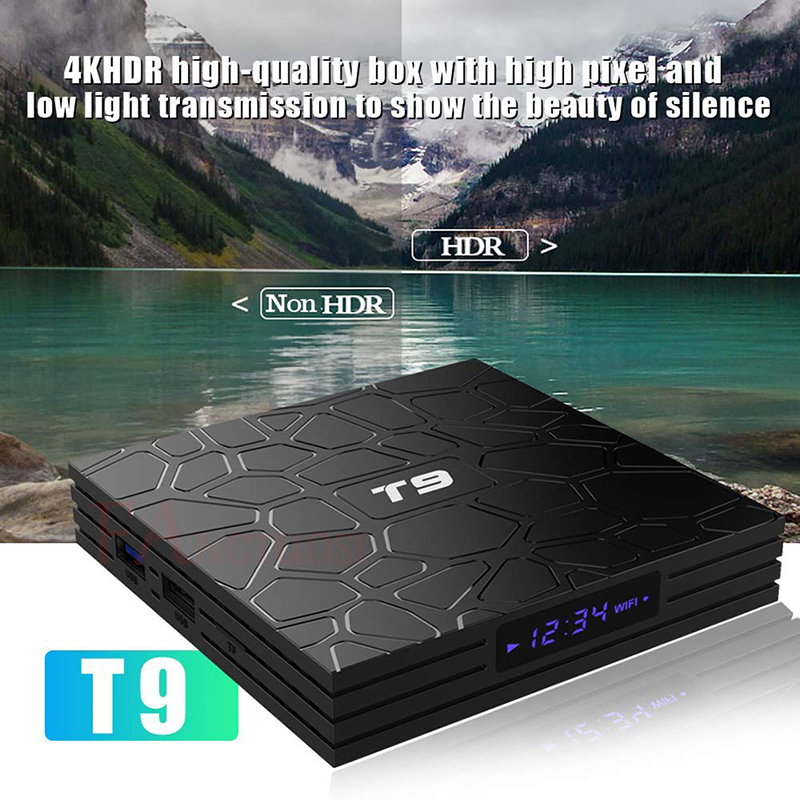 FANGTUOSI T9 TV Box Android 8,1 4 GB 32 GB 64 GB Smart TV Rockchip RK3328 1080 p H.265 4 K Google Netflix, Youtube reproductor de medios - 5