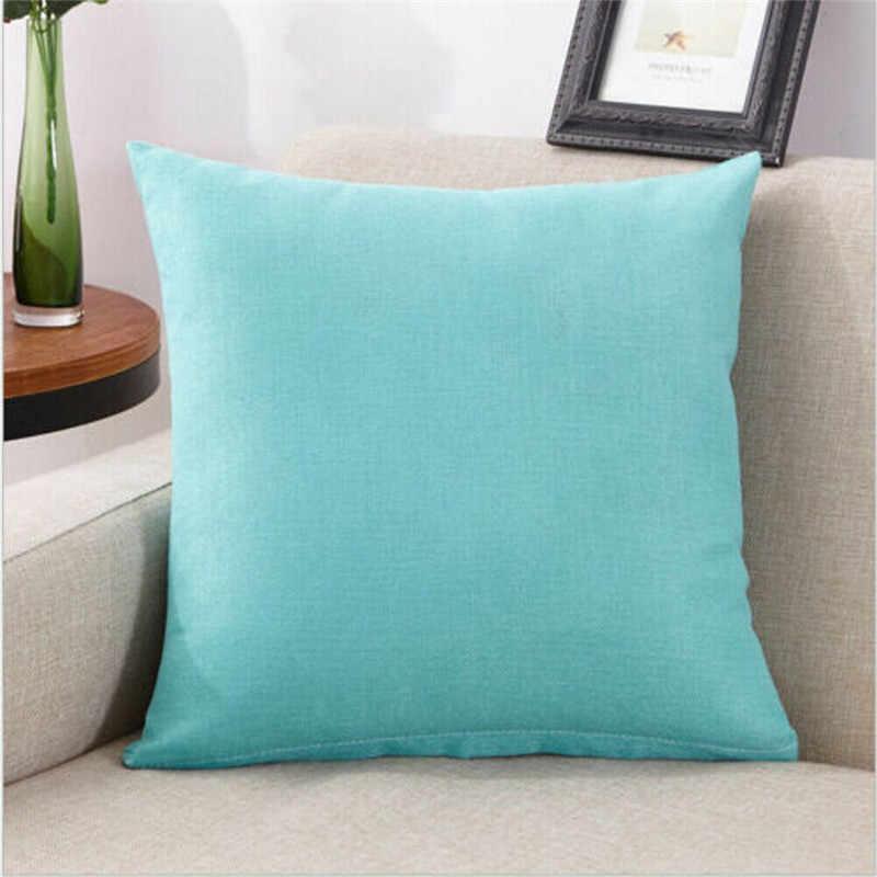 New Fashion Luxury Pillow Cases Cotton Percale Pillowcase Pair Soft Waist Cushion Cover Simple Plain Home Decor Hot Sale 45x45cm