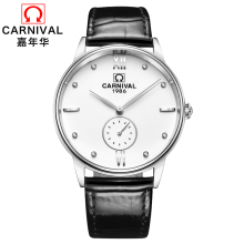 2017 New Simple Watch Top brand Carnival Quartz Watches Men Watches Waterproof Watches Casual and Business Watch full steel