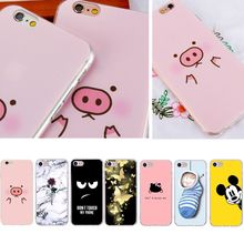 Funny Pig Pink Silicone Phone Case For iphone 7 8 6S 6 5 5S SE Plus X 10 XS MAX Ultra Thin Cat Dog Cover Capa For iphone xr(China)