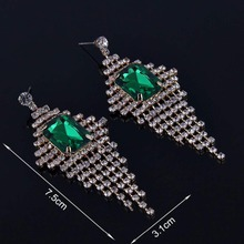 2018 high quality new fashion personality female models exaggerated  alloy earrings wild tassel earrings earrings